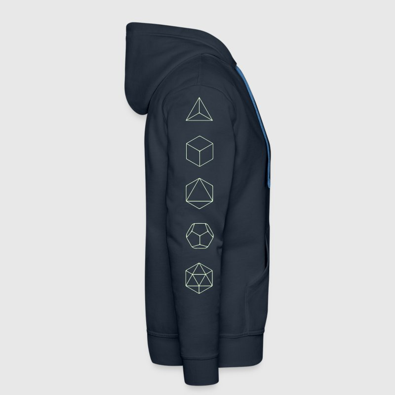 Platonic Solids, Sacred Geometry, Mathematics Hoodies & Sweatshirts - Men's Premium Hoodie