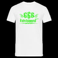 T-Shirts ~ Männer T-Shirt ~ 666 Entertainment Logo 1 Giftgrün