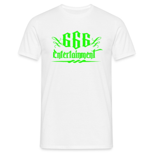 666 Entertainment Logo 1 Giftgrün  - Männer T-Shirt