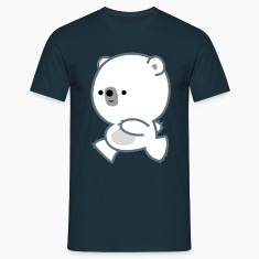 Cute Running Polar Bear Cub by Cheerful Madness!! T-Shirts