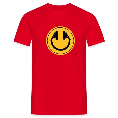 Koptelefoon smiley 2 - Mannen T-shirt