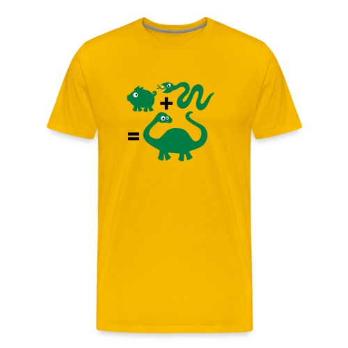 slang + varken = dinosaurus - Mannen Premium T-shirt
