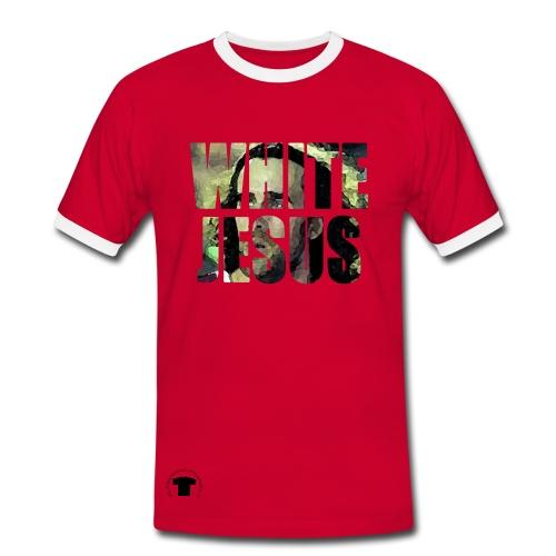 t-shirt da basket per uomo doppio colore - White jesus, 2color - Maglietta Contrast da uomo