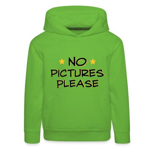 No Pictures Trøje - Premium hættetrøje til børn