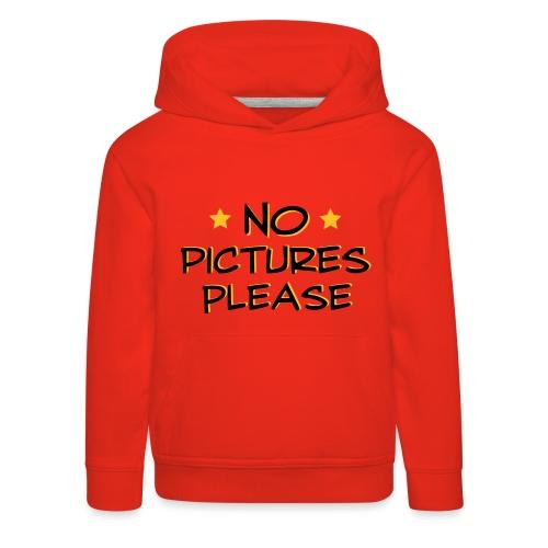 No Pictures Rød Trøje - Premium hættetrøje til børn