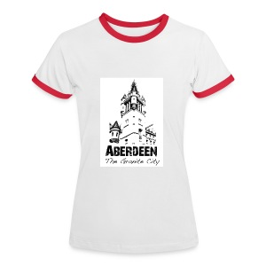 Aberdeen - the Granite City women's Ringer shirt - Women's Ringer T-Shirt