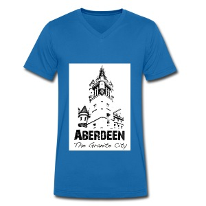 Aberdeen - the Granite City men's V-neck T-shirt by Canvas - Men's Organic V-Neck T-Shirt by Stanley & Stella