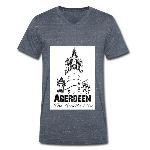 Aberdeen - the Granite City men's V-neck T-shirt by Canvas - Men's Organic V-Neck T-Shirt by Stanley & Stella