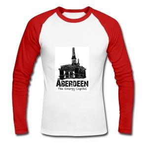 Aberdeen - the Energy Capital long-sleeve baseball T-shirt - Men's Long Sleeve Baseball T-Shirt