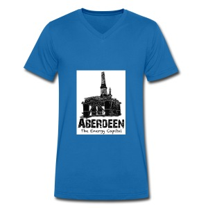 Aberdeen - the Energy Capital men's V-neck T-shirt by Canvas - Men's Organic V-Neck T-Shirt by Stanley & Stella