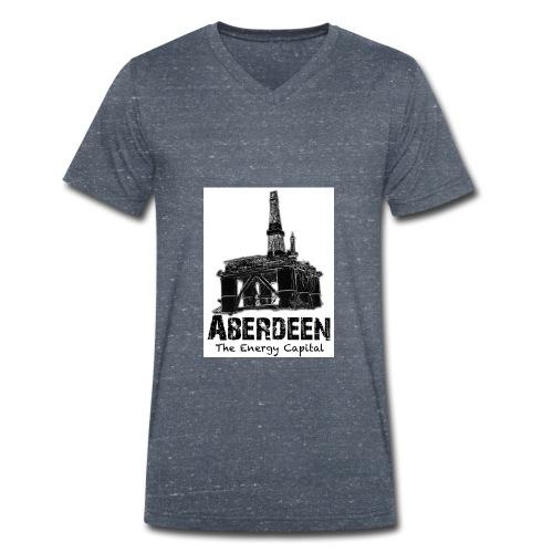 Aberdeen - the Energy Capital men's V-neck T-shirt by Canvas - Men's Organic V-Neck T-Shirt by Stanley & Stella