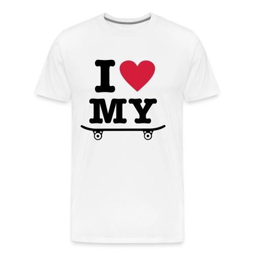 I Heart Skateboard - Men's Premium T-Shirt