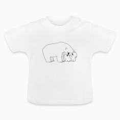 Cute Polar Bear Mum And Cubs by Cheerful Madness!! Shirts