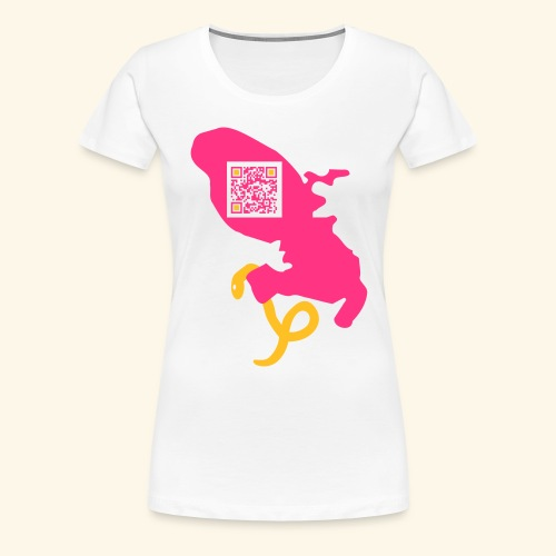 MARTINIQUE QR CODE MAP - T-shirt Premium Femme