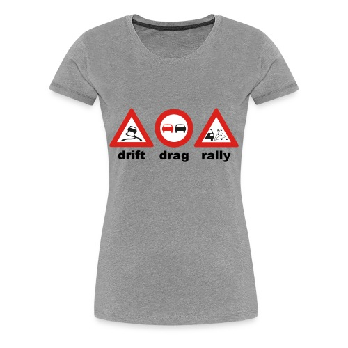 drift drag rally - Frauen Premium T-Shirt