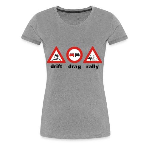 drift drag rally - Frauen Premium T-Shirt