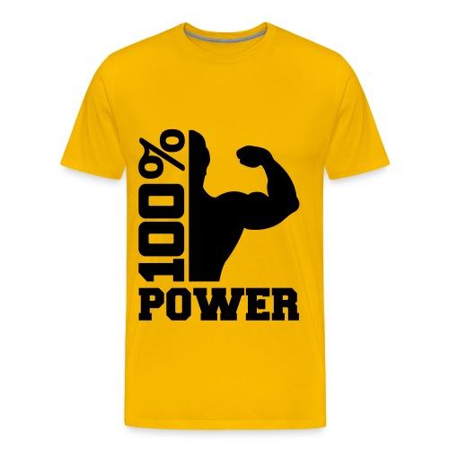 tee shirt '100% power - T-shirt Premium Homme