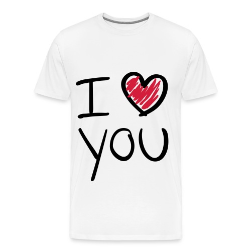 Mannen t-shirt I Love You - Mannen Premium T-shirt