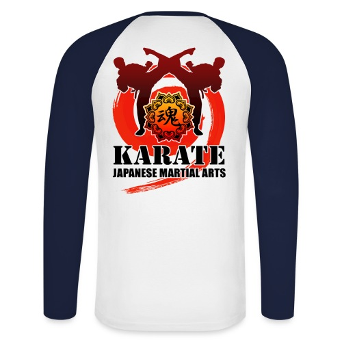 karate - Men's Long Sleeve Baseball T-Shirt