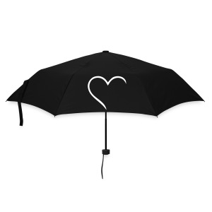 Half-heart umbrella - Umbrella (small)