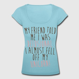 I almost fell of m unicorn! T-Shirts - Women's Scoop Neck T-Shirt
