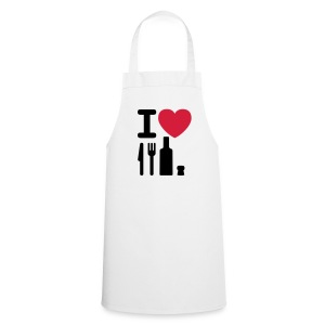 I love NY knife fork bottle cork Kookschort - Keukenschort