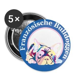 Französische Bulldoggen Buttons - Buttons klein 25 mm