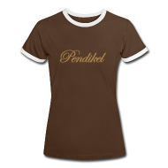 T-Shirts ~ Frauen Kontrast-T-Shirt ~ golden brown