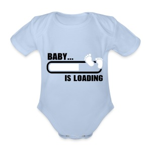 Baby's Loading - Organic Short-sleeved Baby Bodysuit