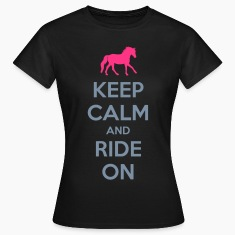 Keep Calm and Ride On Horse Design T-Shirts