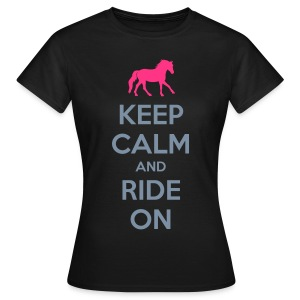 Keep Calm and Ride on Horse T-Shirt - Women's T-Shirt