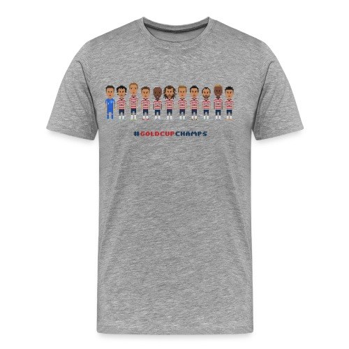 Men T-Shirt - USA Soccer 2013 #GoldcupChamps - Men's Premium T-Shirt