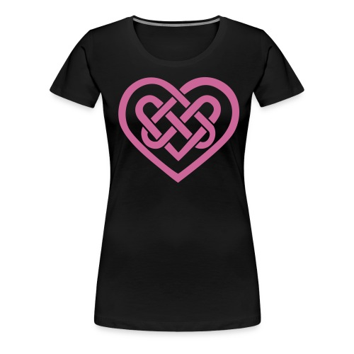 Women's Pink Sparkle Celtic Heart - Women's Premium T-Shirt