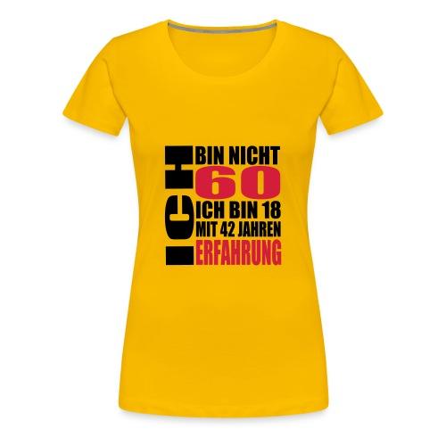 Zum 60. Geburtstag - Frauen Premium T-Shirt
