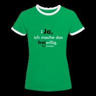 T-Shirts ~ Frauen Kontrast-T-Shirt ~ Freiwillig-DamenShirt