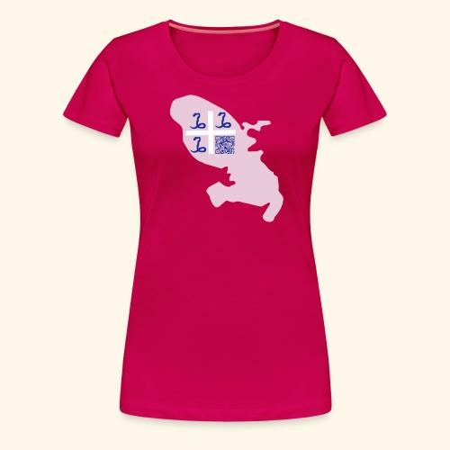 MARTINIQUE QR CODE MAP - T-shirt Premium Femme