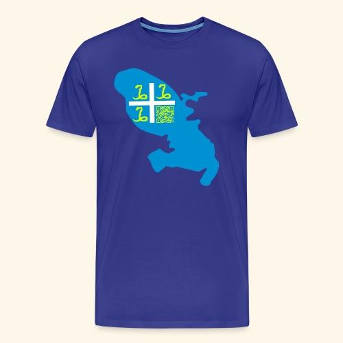 MARTINIQUE QR CODE MAP - T-shirt Premium Homme