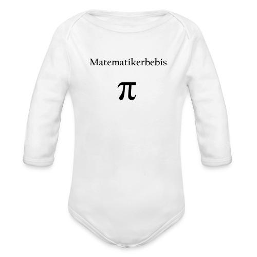 Matematikerbebis - Ekologisk långärmad babybody