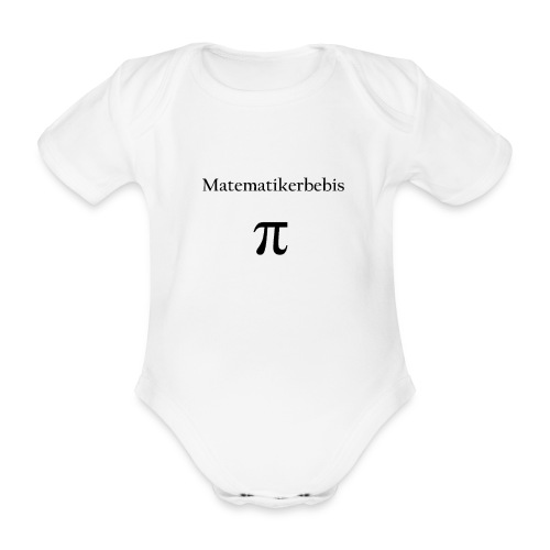 Matematikerbebis - Ekologisk kortärmad babybody