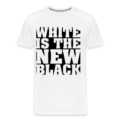 White Is The New Black - Mannen Premium T-shirt
