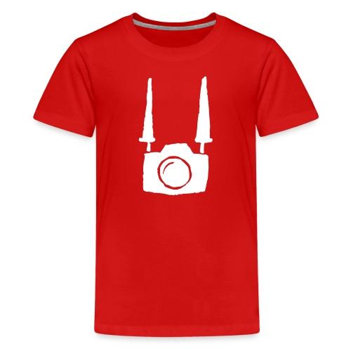 Camera on body - Red - Maglietta Premium per ragazzi