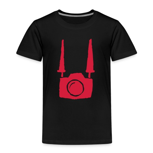 Camera on body - Black - Maglietta Premium per bambini