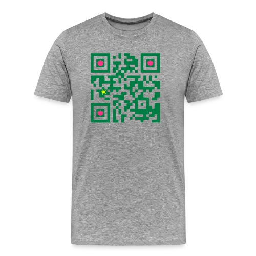 MACAU GEEK T-SHIRT QRCODE - Men's Premium T-Shirt