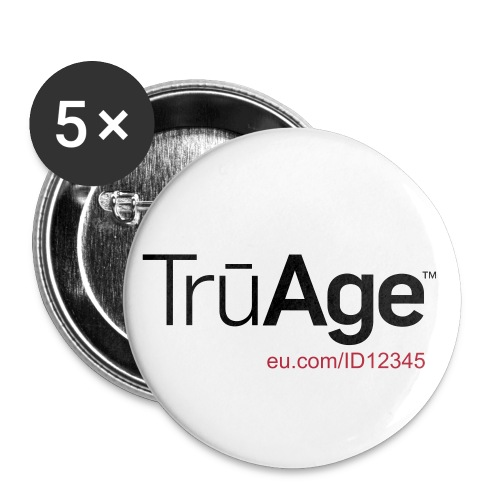 TruAge_Button/ID - Buttons groß 56 mm (5er Pack)