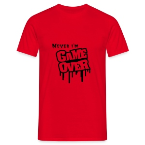 Mannen T-Shirt - Never Game Over - Mannen T-shirt