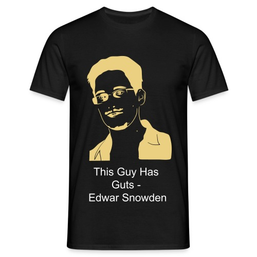 Edward Snowden - This Guy has Guts - Männer T-Shirt
