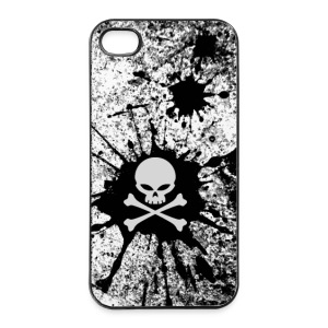 Skull grunge style - coque portable - Coque rigide iPhone 4/4s
