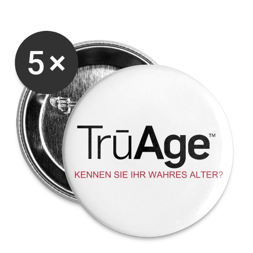 TruAge_Button2 - Buttons groß 56 mm (5er Pack)