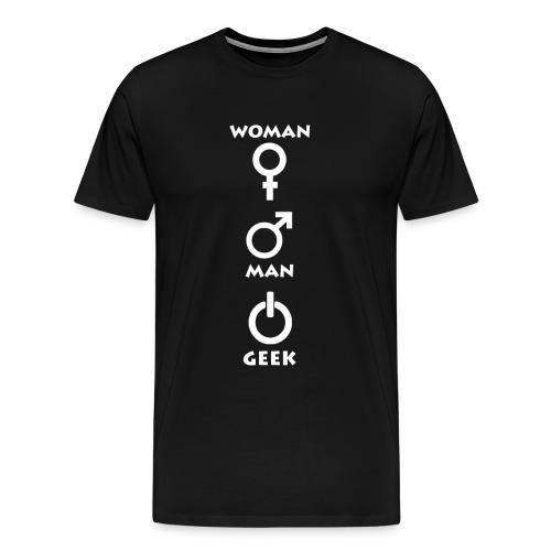 Geek Attitude 1 White - T-shirt Premium Homme