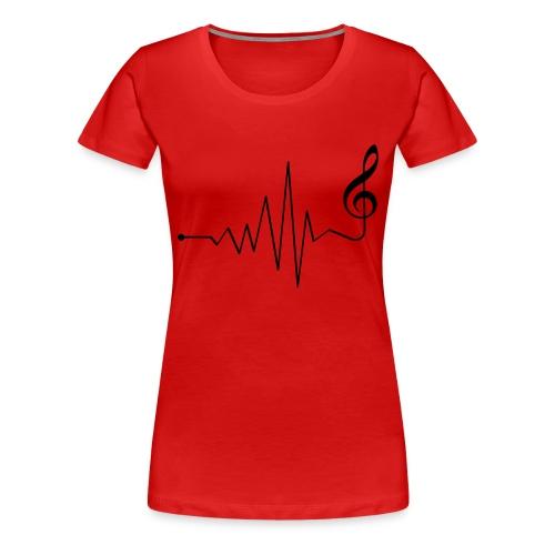My heart beats music - Women's Premium T-Shirt